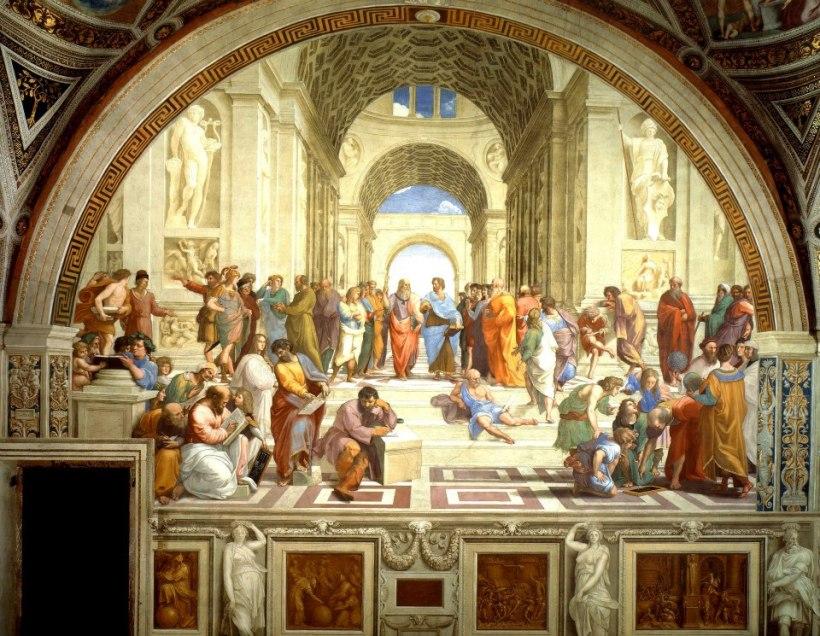 拉斐爾的重要作品《雅典學院》