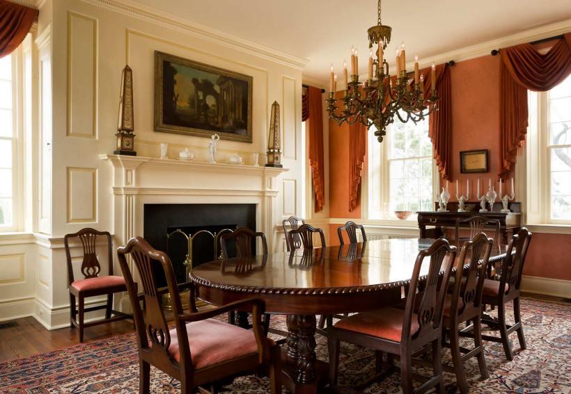 【餐廳】十九世紀座椅、1900s餐桌、Jim Thompson泰絲窗簾