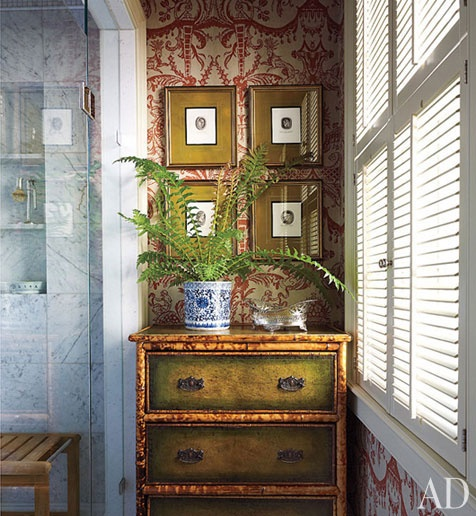 19世紀竹製層櫃