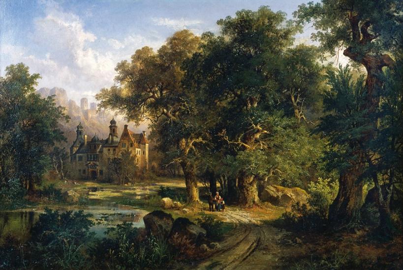 浪漫主義風景作品,1860年代。