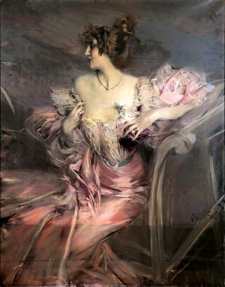 《芙羅西翁女士畫像》(Portrait de Marthe de Florian, 1898年)
