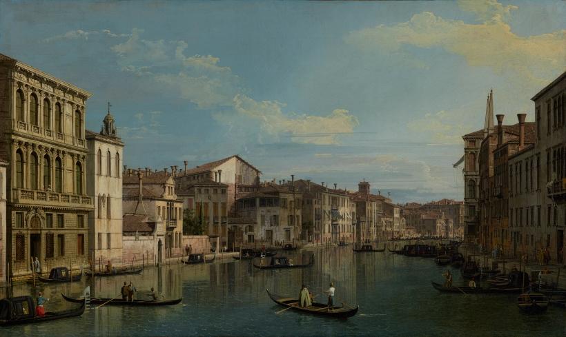 圖二:提波羅的同鄉康納雷佗(Canaletto, 1697-1768)所繪製的大運河一景,我們可以藉此想像十八世紀的威尼斯。