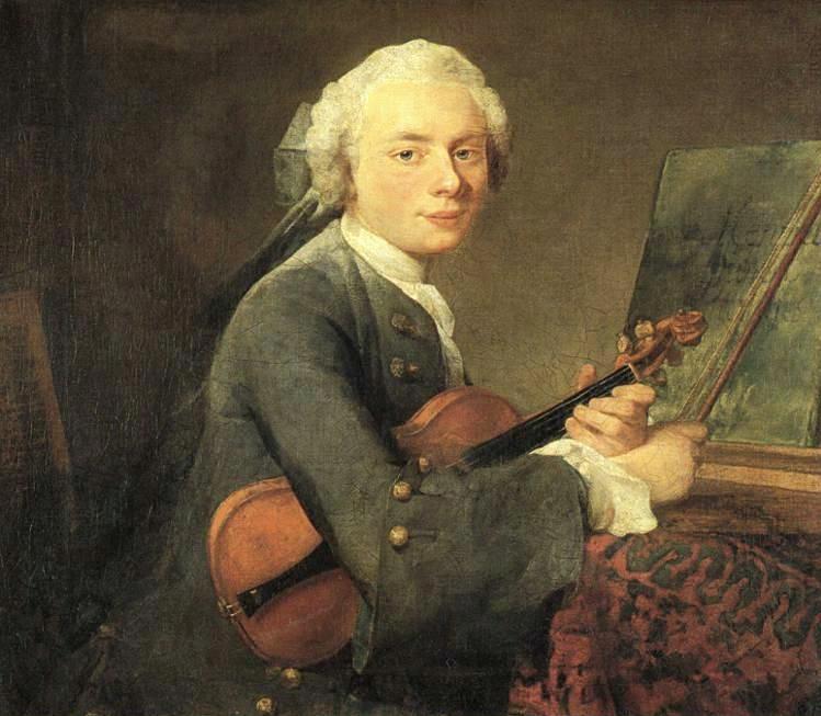 《查爾斯-狄奧多西》(Portrait of Charles Godefroy),約1734-35,油彩畫布,67.5 x 74.5 cm,Louvre, Paris, France。