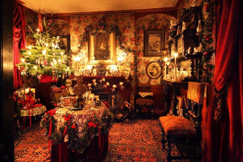 維多利亞房間的聖誕場景(圖片出處)
