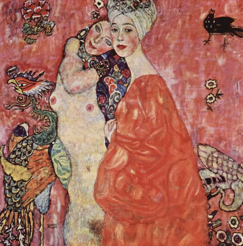 克林姆,《女朋友》,1916-1917,油彩畫布。