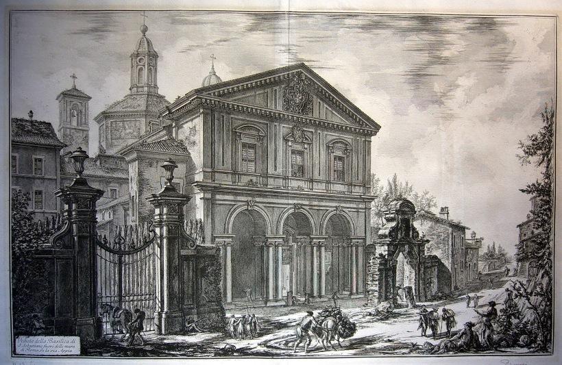 羅馬阿庇亞古道上的聖塞巴斯強教堂(Veduta della Basilica di S. Sebastiano fuori delle mura di Roma, su la via Appia)