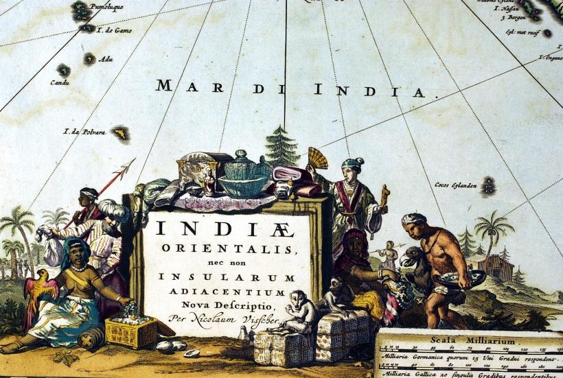 〈東印度及其附近島嶼新輿圖〉的圖名開光。