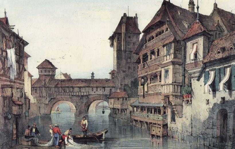 十九世紀初的紐倫堡市區