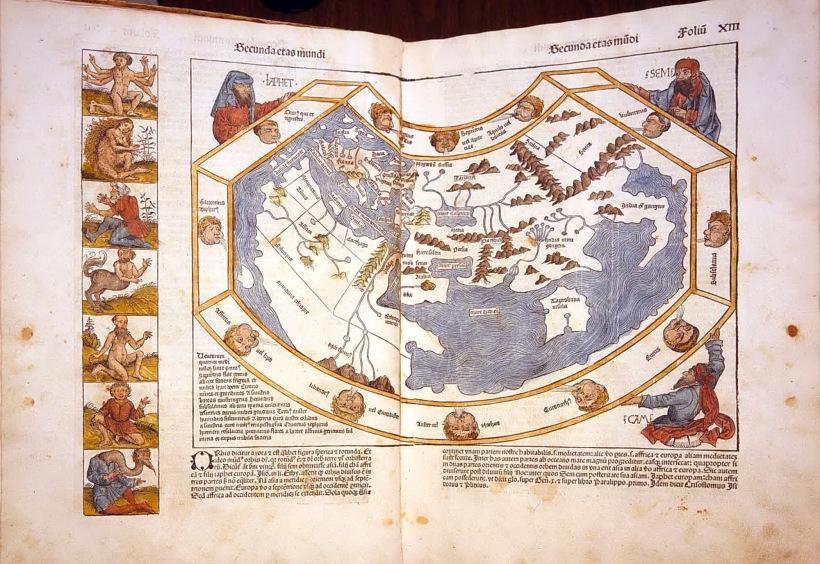 《年鑑》中的世界地圖