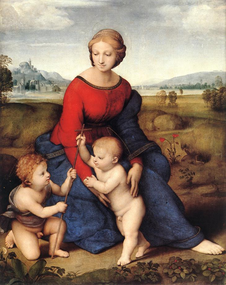 拉菲爾的《聖母子與施洗約翰》(Madonna with the Christ Child and Saint John the Baptist, 1506)