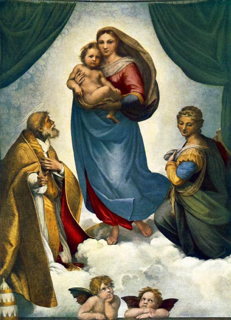 《西斯汀聖母》(Sistine Madonna, 1513-1514)