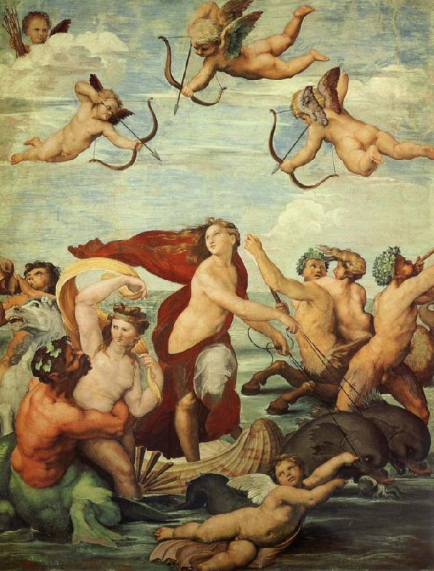 拉菲爾的《水神卡拉蒂》(The Triumph of Galatea, 1512)