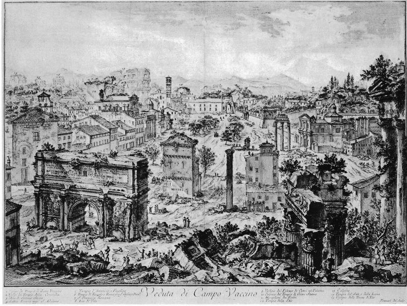 古羅馬廣場(Forum Romanum)位於羅馬帕拉蒂尼山(Mons Palatinus)與卡比托利歐山(Collis Capitolinus)之間,是古羅馬時代的市中心,留有一些羅馬最古老與最重要的建築。