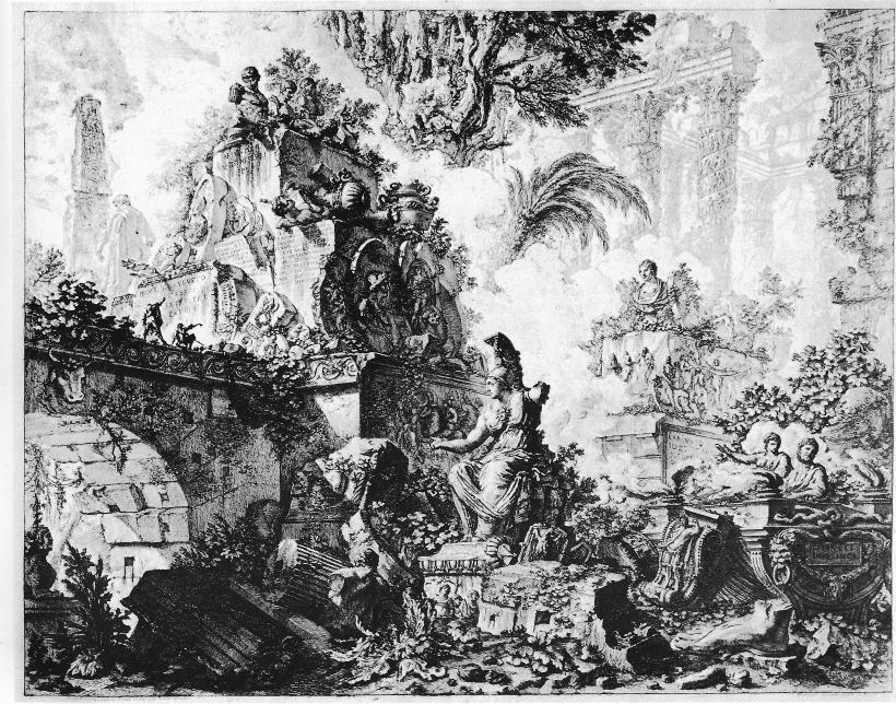 皮拉奈奇的《羅馬景觀圖》(Vedute di Roma)扉頁。