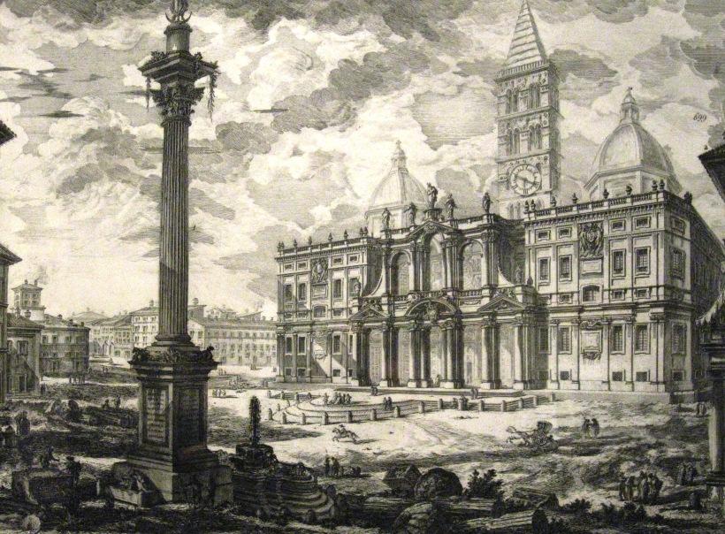 聖母大教堂(Santa Maria Maggiore),又稱白雪聖母教堂,為羅馬四座教宗聖殿及七座朝聖教堂之一。建於西元四世紀,教堂正面十八世紀改建。