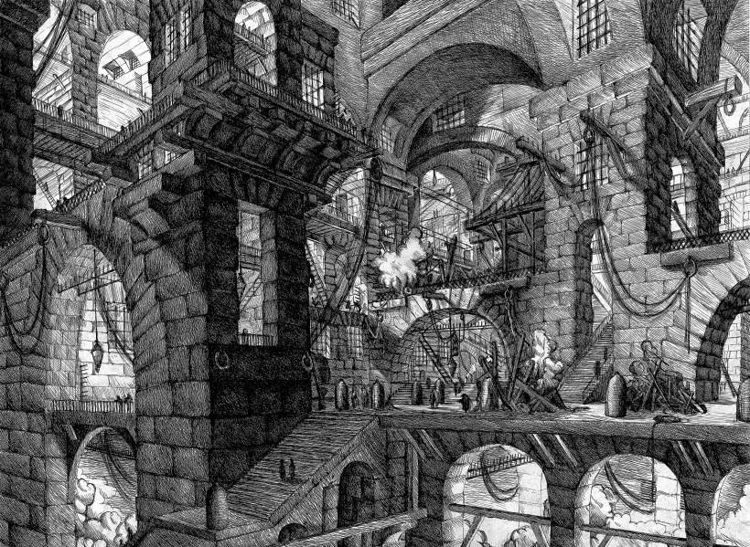 Piranesi 牢獄:皮拉奈奇為人稱道的《牢獄》組曲作品之一。