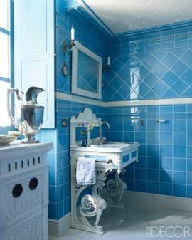 【土耳其式澡堂】(hammam)、Original Style磁磚、十九世紀上漆鍛鐵製洗臉台