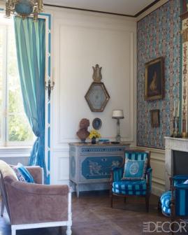 【客房】督政府時代、手工繪製衣櫃、沙發、扶手椅
