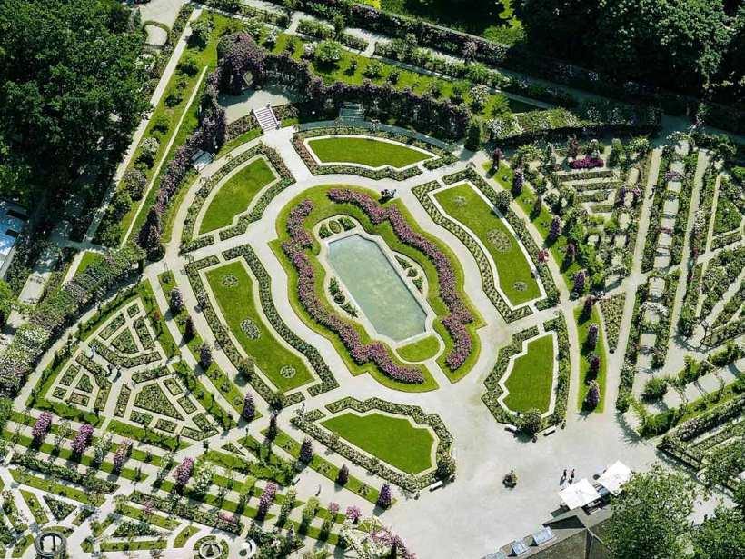 馬恩河谷玫瑰花園(La Roseraie du Val-de-Marne)鳥瞰