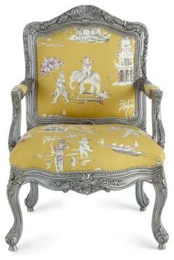 路易十五東方風格的扶手椅(fauteuil)