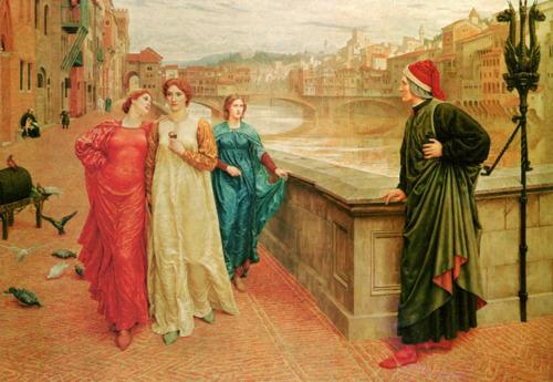 亨利‧哈樂地(Henry Holiday)的畫作:《但丁與碧雅翠絲》