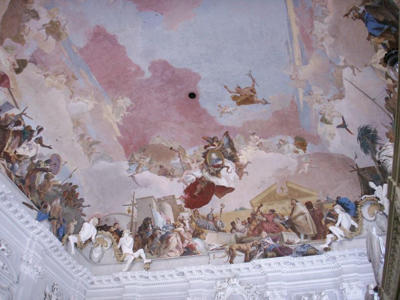 圖五:提波羅的四大洲壁畫局部。(圖片出處)