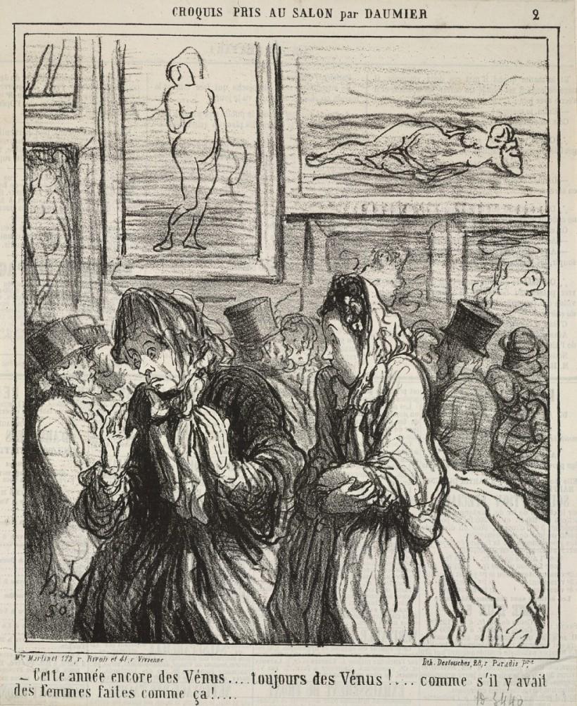 杜米埃,維納斯沙龍展,1864,石版。