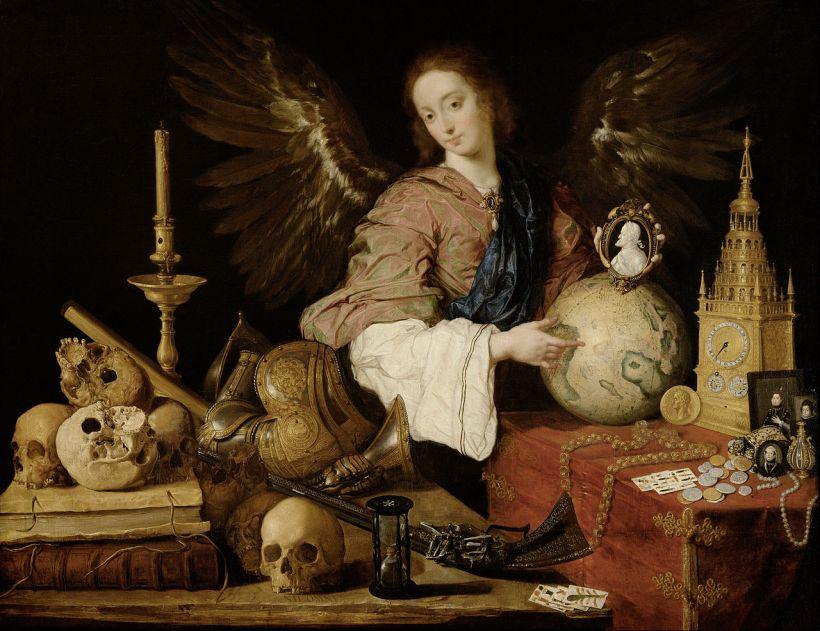 培瑞達,《虛空寓意》(Allegory of Vanity),約1640,維也納藝術史博物館(Kunsthistorisches Museum)。