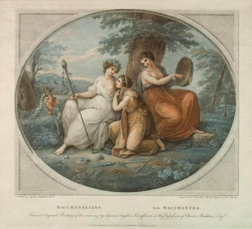 巴托洛奇(Francesco Bartolozzi),酒神女祭司(Bacchante),彩色細點技法,1786。