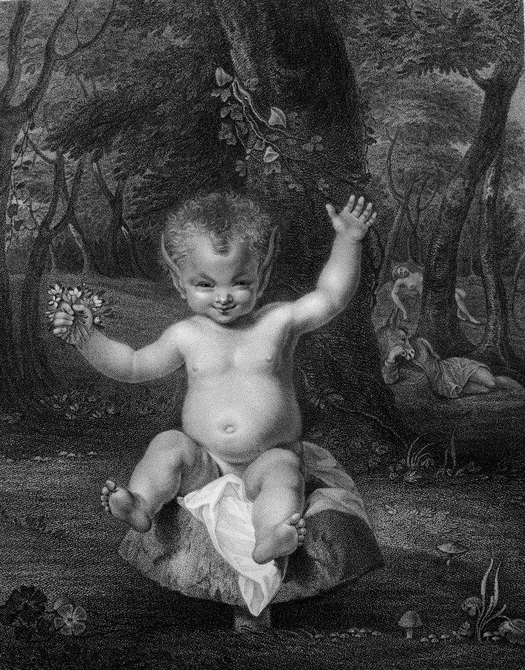 銅版直刻(engraving): William Shakespeare,《莎士比亞劇作集》(The Dramatic Works), edited by George Steevens, engraved plates, by W. Bulmer & Co. for John & Josiah Boydell, 1802。