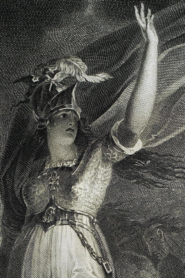 《亨利六世》第五幕插圖局部:英國銅版技法在十八世紀突飛猛進,可說歸功約翰‧保德勒(John Boydell,1720-1804)。