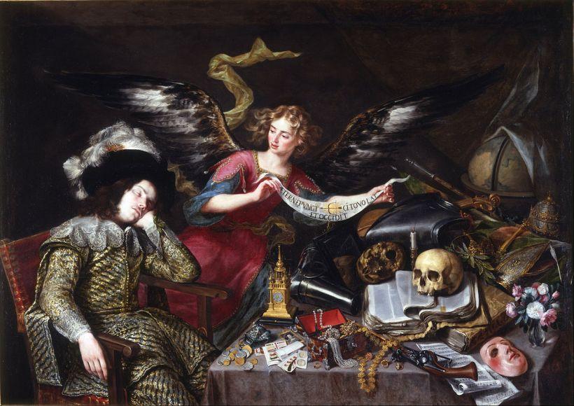 培瑞達,《騎士之夢》(The Knight's Dream),1650,馬德里聖費南多美院(Real Academia de Bellas Artes de San Fernando)。