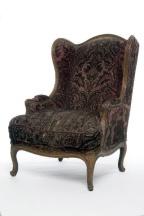 單人雙耳沙發(Bergère à oreilles),約1760。家具融入人體工學設計,追求舒適。