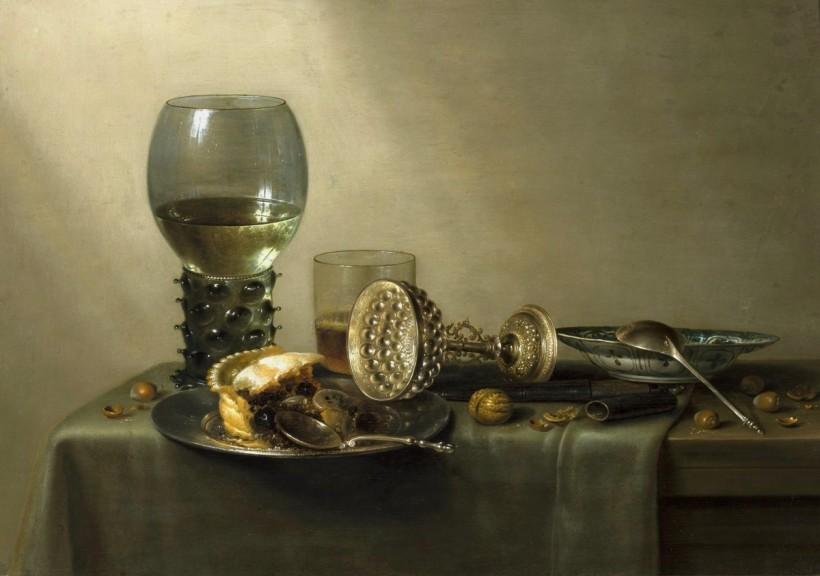 威廉‧賀達,《甜點》,1637,華沙國家博物館(National Museum in Warsaw)。
