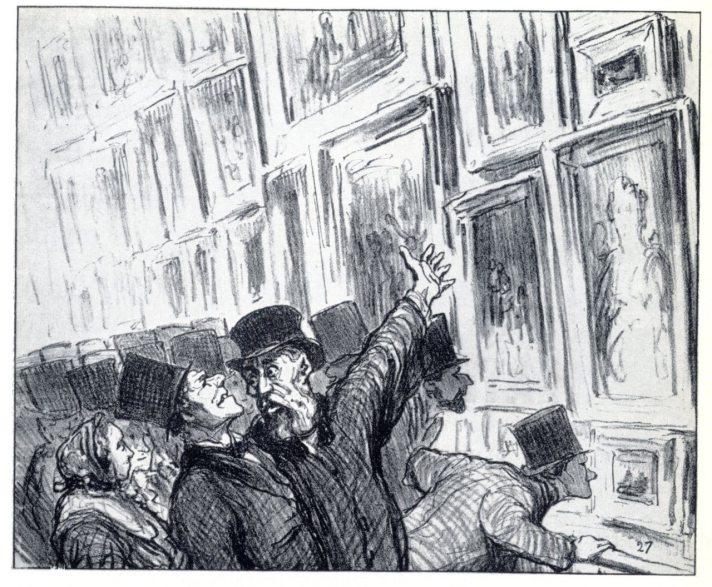 杜米埃,沙龍展,1859,石版。