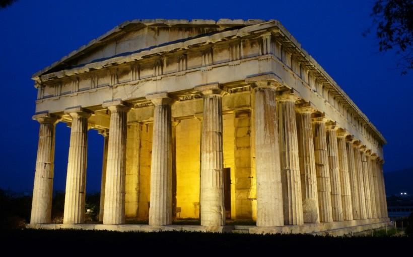 希臘雅典的火神赫菲斯托斯神殿(The Ancient Greek Temple of Hephaestus),西元前415年。
