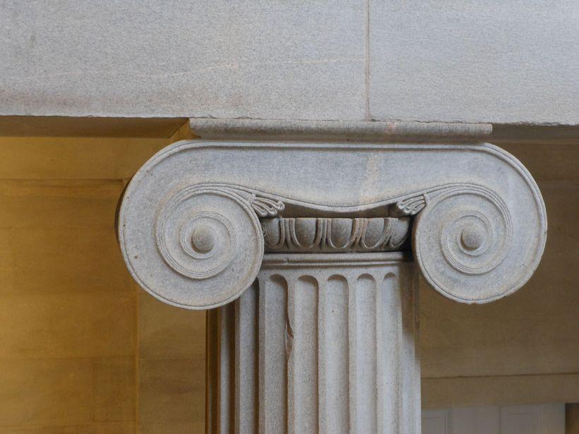 古希臘愛奧尼柱式的局部。