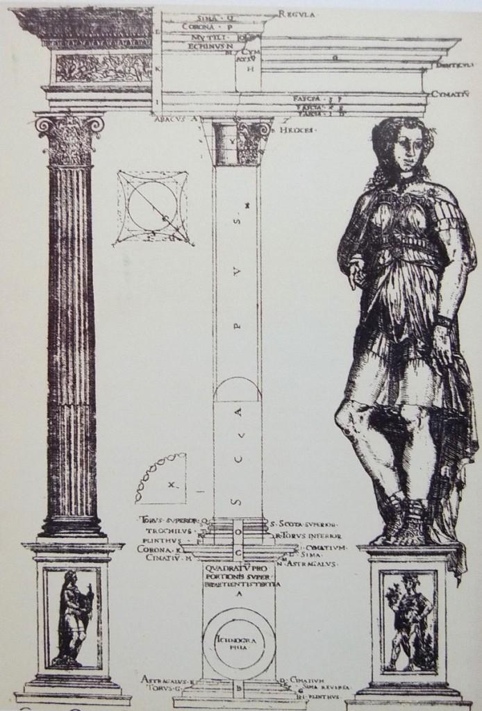 科林斯柱式則為一名少女,凹槽有如衣袍皺襬,柱頭則如捲髮。