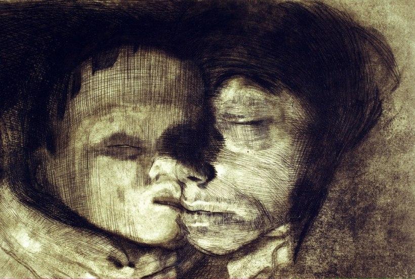 《母子與死神》局部。