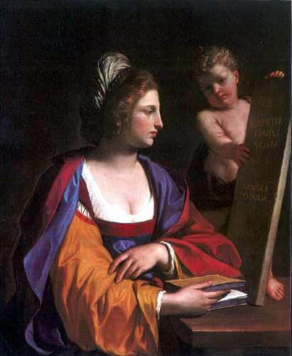 古耶奇諾,芙爾吉安(Phrygian Sibyl),油彩畫布,1647,收藏者不詳。