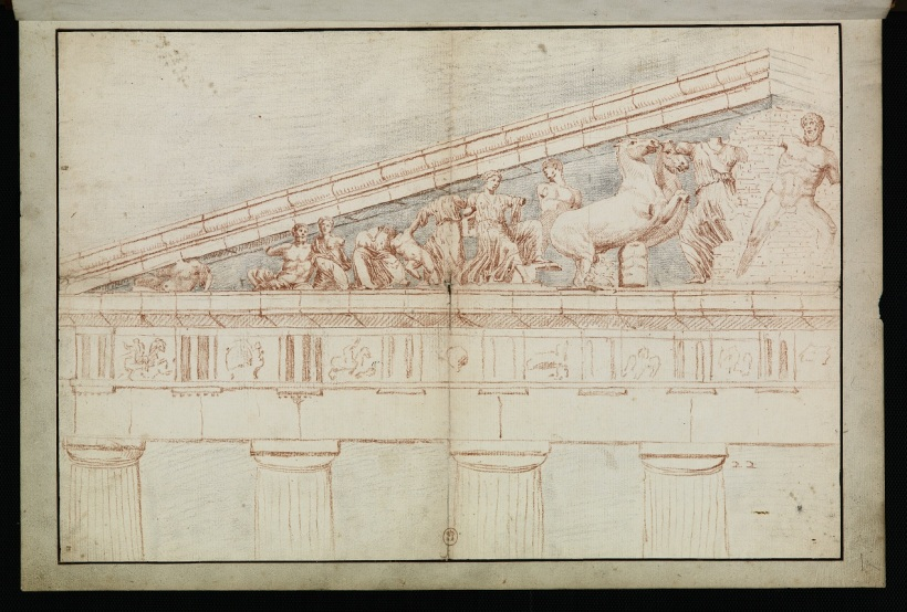 法國藝術家賈克‧凱瑞,帕德嫩神殿的山形牆上雕塑,1674。