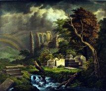 作者:Ruisdael, Jacob / Straub, C. 名稱:猶太墓園(Der Juden-Kirchhof)。 署名:德國V. Franz Hanfataeng彙編出版。 技法:石版上彩(Handcolored Lithography)。 年代:約1840。 尺寸:38 x 44.5cm/50 x 56cm。(K-032)