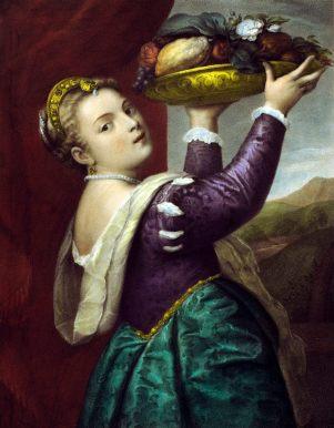 作者:Tizian(約1477或1490-1576) 名稱:提香女兒娜維妮雅(Tizian's Tochter Lavinia)。 署名:(Gemäldegallerie des Königli. Museums in Berlin). Lith v. Wildt/ Druck v. I. Zöllner in Berlin. Heraugeg. v. M. Simion- Athenaeum in Berlin。 技法:石版上彩(Handcolored Lithogr.)。 年代:約1840。 尺寸:畫面26 x 34 cm。(P K-025)