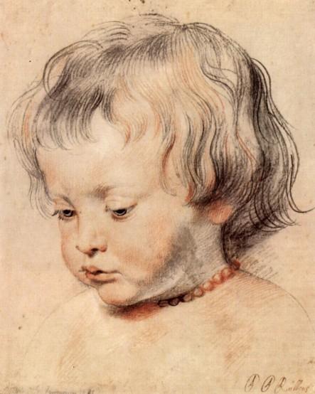 魯本斯(Peter Paul Rubens, 1577-1640 ),魯本斯的兒子尼可拉斯(Nikolaus),約1619年。
