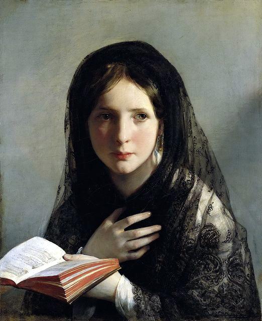 綺夢失神(Lost in Her Dreams),油彩畫布,1835,列支敦士登美術館。