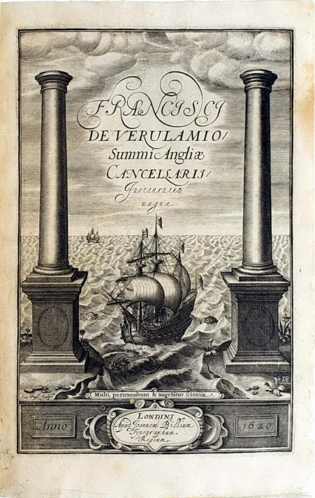 《新工具》書名頁的銅版版畫。