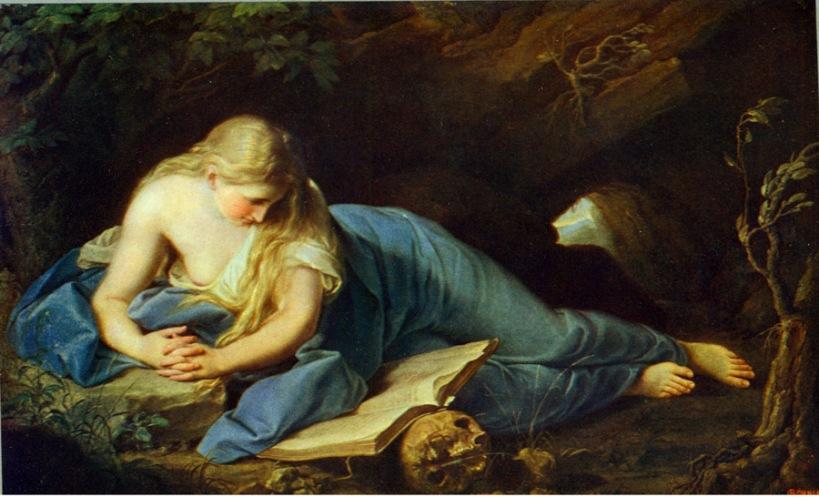巴托尼(Pompeo Batoni, 1708-1787),《聖抹大拉馬利亞》,油彩畫布,約1742-43,毀於二戰1945.02.13-14德雷斯敦(Dresden)大轟炸。