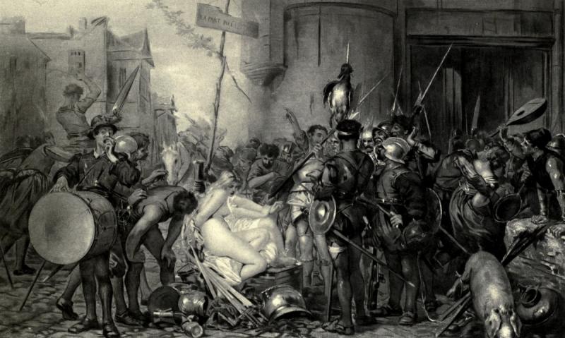 德‧波蒙,分享戰利品(The Captain's Share of the Booty),油彩畫布,1868,巴黎盧森堡美術館(Musée du Luxembourg)。