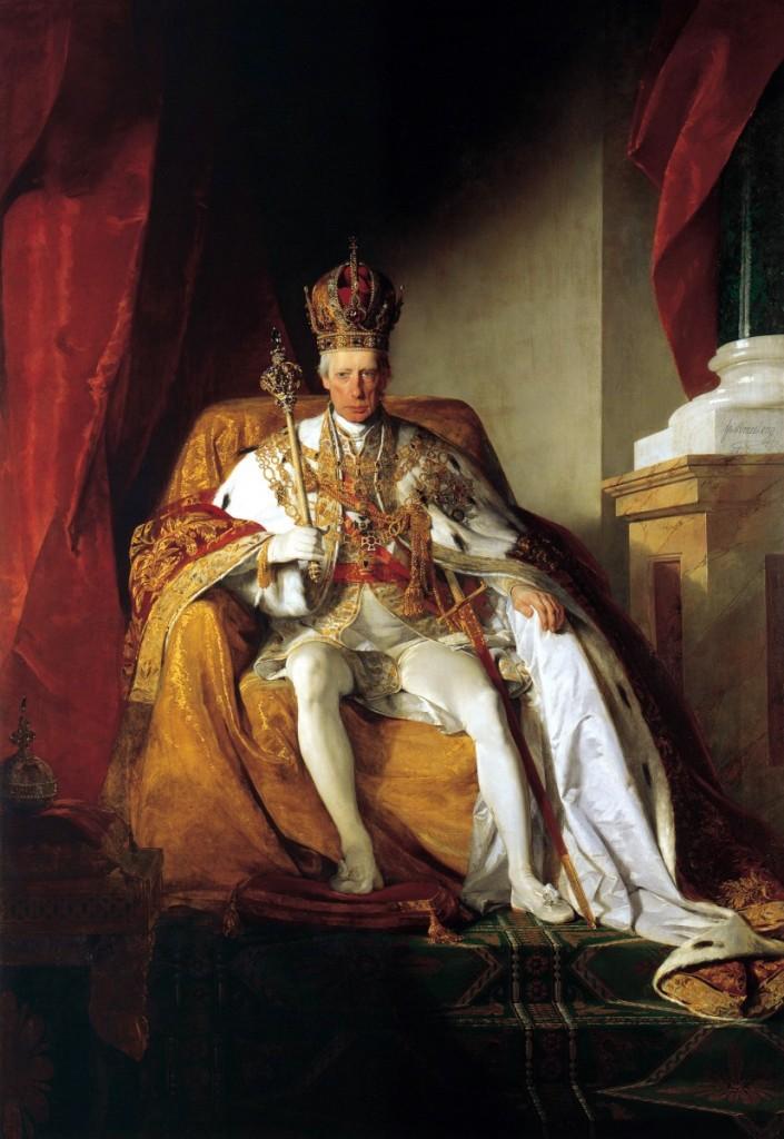 神聖羅馬帝國皇帝法蘭茲二世(Frnaz II, 1768-1835),油彩畫布,1832,維也納藝術史博物館(Kunsthistorisches Museum)。