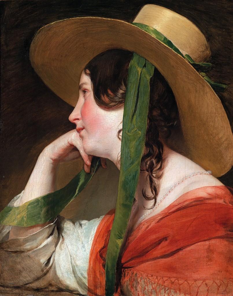 戴草帽的女孩,油彩畫布,1835年,列支敦士登美術館。